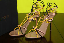 SERGIO ROSSI A41420 YELLOW/BLACK/PINK #8.5us $690