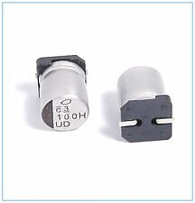 (10PCS) 100UF 50V NICHICON SMD ALUMINUM ELECTROLYTIC CAPACITORS.8X10MM 50V100UF