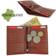 New Genuine Leather Ladies Slim Wallet Credit Card Holder Full Grain Leather Tan