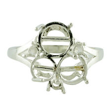 Semi Mount 8.00 MM Round Shape Ring Natural 925 Silver Festival Event Jewelry