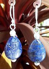 Handmade Lapis Lazuli Silver Plated Fine Earrings