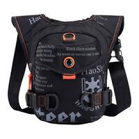 Men Waterproof Drop Leg Bag Motorcycle Tactical Hip Belt Pouch Waist Fanny Pack