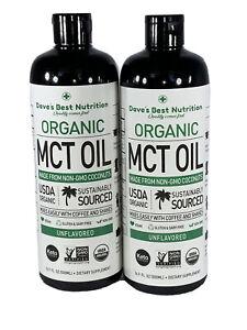 2 Pack Premium MCT Oil KETO Vegan diet Friendly Two 16oz Ships From Florida