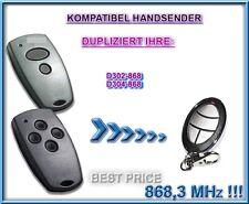 Marantec D302-868 / Marantec D304-868 kompatibel handsender, KLONE 868,3Mhz