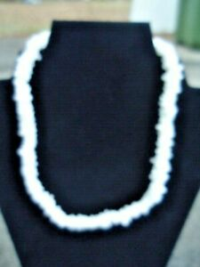 Vintage Surfer Jewelry 16 Inch Choker Irregular Shaped Puka Shell Necklace