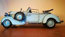 Blechauto mit schönen Details Modellauto nostalgie Oldtimer Cabrio türkis Deko Blechspielzeug