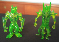 Ben 10 Benwolf & Wildvine Creation Chamber Clear Green Figures