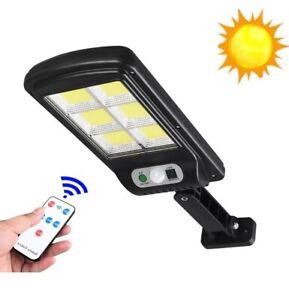 Faretto lampione con 120 led cob da esterno a pannello solare sensore movimento
