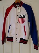Ralph Lauren Mens Jacket MCHARIOTSOFFIRE WHITE MU NEW (XS) ORG $198 VERY RARE