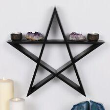Pentagram Wall Art Display Hanging Shelf Altar Piece Wiccan Pagan 40cm