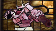 Transformers G1 Decepticon Shockwave Leaded Stained Glass Panel