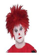Spikey Red Evil Clown Wig Halloween Horror Fancy Dress Costume