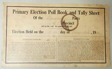 RARE 1921 ELECTION POLL BOOK REPUBLICAN PARTY BELLINGHAM WHATCOM WASHINGTON USA