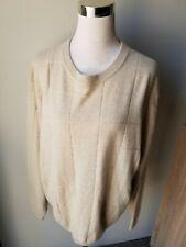 Grayson & Dunn 100% Cashmere Crewneck Sweater Men's Size Large L. Tan