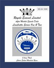 Royale Designed 100KPH ULMA Speedo Dial Lambretta S1 S2 Super Vigano SD2.100K