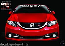 Windshield Banner Decal Fits HONDA Civic LX, Si, LX, Coupe Hybrid Sedan any year