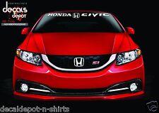 Windshield Banner Decal Fits HONDA Civic LX, Si, LX, Coupe Hybrid Sedan any year