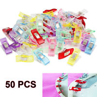 HOT 50PCS Pack Clover Wonder Clips for Crafts Quilting Sewing Knitting Crochet