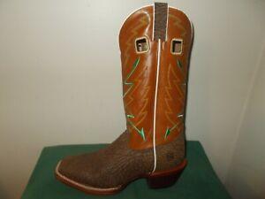 Mens 11.5 D OCTAVIUS Square Toe Buckaroo Western Cowboy Boot Burnt Orange New