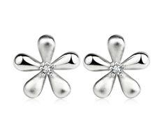 Ohrstecker Ohrring Blume 10 mm aus Sterling Silber 925
