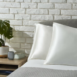 100% Pure Mulberry Silk Pillow Case for Hair and Skin - 22 Momme Ivory White