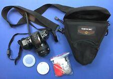 Minolta Maxxum 400si 35mm SLR Film Camera w/AF 35-70 zoom + Case, Cleaning Kit