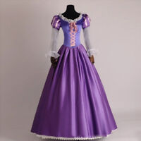 Adult  Rapunzel Princess Fancy Dress Outfit  Women Fairytale Cosplay Costume