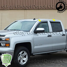 For 2014 2015 2016 2017 Chevrolet Silverado 1500 & 15-17 2500 3500 Window Visors