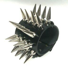 Leather 5 row Large Spike Stud bracelet wristband cuff band Steam punk RATS BUM