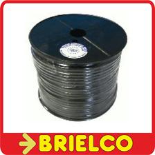 CABLE COAXIAL RG58 ROLLO 100 METROS EXTERIOR 5MM INTERIOR FLEXIBLE NEGRO BD3238
