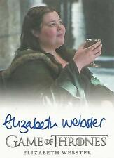 "Game of Thrones Season 5 - Elizabeth Webster ""Walda Bolton"" Autograph Card"