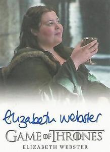 """Game of Thrones Season 5 - Elizabeth Webster """"Walda Bolton"""" Autograph Card"""