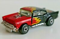 Die-Cast Car - MATCHBOX - Superfast No4 '57 Chevy Red Flame 1979 - Flaws