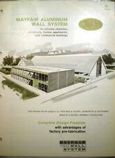 MAYFAIR Industries Catalog ASBESTOS Curtain Walls System Building Panels 1960's