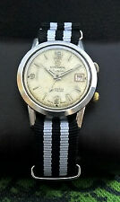 RODANIA DATOFONIC WWII 40th MILITARY ALARM AS 1568 VINTAGE 17J RARE SWISS WATCH.