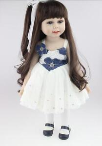18Inch Long Hair Girl Lifelike Doll Girl Silicone Vinyl Collection Fashion Doll