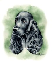 COCKER SPANIEL Dog Watercolor Painting 11 X 14 Art Print by Artist DJ Rogers