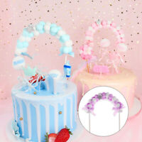 Pompom Soft Cloud Cake Topper Birthday Baby Shower Cupcake Decor Party Supplies