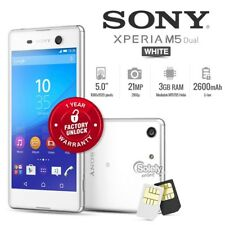 """New Unlocked Sony Xperia M5 E5663 Dual White 5"""" IPS Android 4G LTE Mobile Phone"""