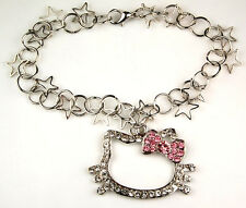 Hello Kitty Bracelet Pink Bow Crystal Fashion Jewelry