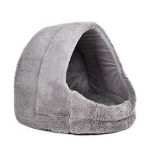 Pet Cat Pup Kitten Cozy Cave Bed Kennel Basket Cushion House Removable Mat Bed