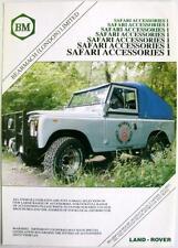 LAND Rover Bearmach Safari accessori-AUTO PARTE FOGLIO di vendita