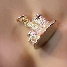 Oro 9 Carati Nuovo solido Londra WINDSOR Castle Charm