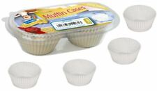 Kingfisher 150xmuffin Paper Plain Classic White Cases Cake Baking Cupcake Kc75mc