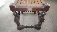 More details for antique collectable hms britannia stool owned by 2 famous victorian rn officers
