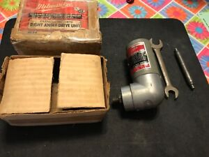 Milwaukee Tools Right Angle Drive Unit Drill Kit #2870 in Box w/ Wrench
