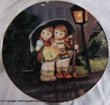 """1989 Hummel """"Stormy Weather"""" Plate Little Companions 23K Gold Trim As82"""