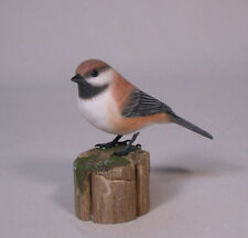 Boreal Chickadee Orig Bird Wood Carvings/Birdhug