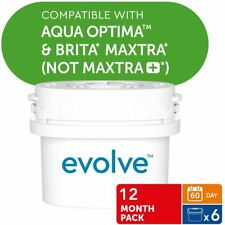 6 Aqua Optima Evolve 60Day Water Filter Jug Refill fits BRITA MAXTRA 1 Year Pack