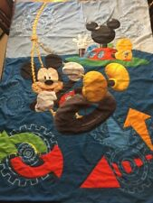 "Disney Mickey Mouse 2 Piece Crib Bedding Swing Cog Wheels 41"" x 59"" Comforter"